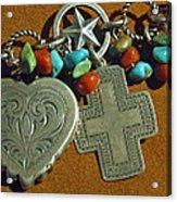Southwest Style Jewelry With Texas Star Acrylic Print