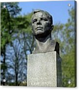 Soviet Monument To Yuri Gagarin Acrylic Print by Detlev Van Ravenswaay
