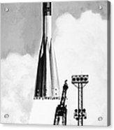 Soviet Soyuz Rocket, 1975 Acrylic Print