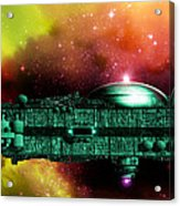 Space Ark Acrylic Print by Victor Habbick Visions