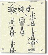 Space Capsule 1961 Patent Art #2 Acrylic Print by Prior Art Design