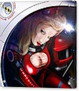 Space Girl Acrylic Print