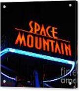 Space Mountain Sign Magic Kingdom Walt Disney World Prints Acrylic Print