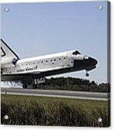 Space Shuttle Atlantis Touches Acrylic Print