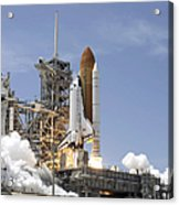 Space Shuttle Atlantis Twin Solid Acrylic Print