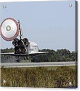 Space Shuttle Atlantis Unfurls Its Drag Acrylic Print