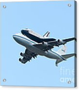 Space Shuttle Enterprise Arrives In New York City Acrylic Print
