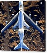 Space Shuttle Piggyback Acrylic Print