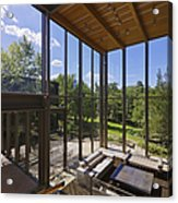 Spacious Living Room With A View Acrylic Print