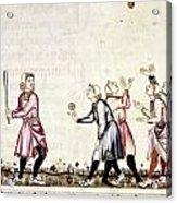 Spain: Medieval Ballgame Acrylic Print