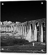 Span Of The Kamares Aqueduct Larnaca Republic Of Cyprus Europe The Aqueduct Was Built In 1750 Acrylic Print