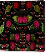 Spanish Flamenco Roses In Fantasy Style Acrylic Print
