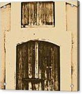 Spanish Fort Door Castillo San Felipe Del Morro San Juan Puerto Rico Prints Rustic Acrylic Print