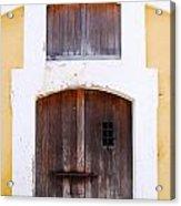 Spanish Fort Door Castillo San Felipe Del Morro San Juan Puerto Rico Prints Acrylic Print