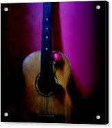 Spanish Guitar And Red Rose Acrylic Print