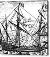Spanish Ship, C1595 Acrylic Print