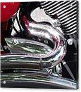 Sparkling Curved Chrome  Acrylic Print