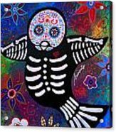 Sparrow Day Of The Dead Acrylic Print