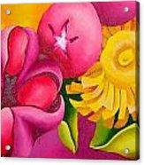 Spatterdock - Panel 3 Of 3 Acrylic Print