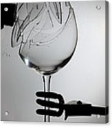 Speaker Breaking A Glass With Sound Acrylic Print