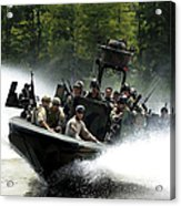 Special Forces In A High-speed Combat Acrylic Print