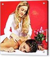 Special Spa Massage Acrylic Print