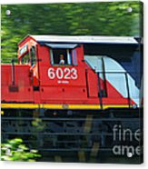 Speeding Cn Train Acrylic Print