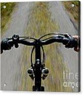 Speeding Mountain Bicycle Acrylic Print
