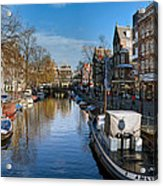 Spiegelgracht And Ship Amsterdam Acrylic Print