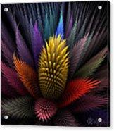 Spiky Botanical Acrylic Print by Peggi Wolfe