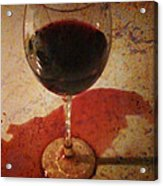 Spilled Wine Acrylic Print