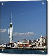 Spinnaker Tower And Round Tower Portsmouth Acrylic Print