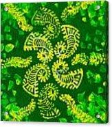Spinning Greens Acrylic Print