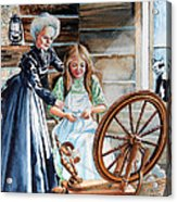 Spinning Wheel Lessons Acrylic Print