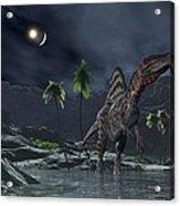 Spinosaurus Witnessing A Lunar Impact Acrylic Print