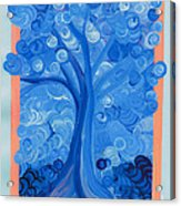 Spiral Tree Winter Blue Acrylic Print