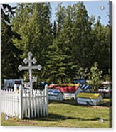 Spirit Houses Of Eklutna Acrylic Print