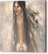 Spirit Woman Acrylic Print by Charles B Mitchell