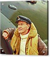 Spitfire Pilot Acrylic Print