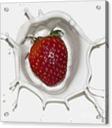 Splash Of Strawberry Acrylic Print