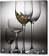 Splashing Wine In Wine Glasses Acrylic Print