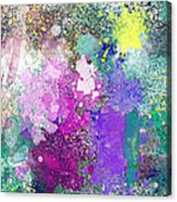 Splattered Colors Abstract Acrylic Print