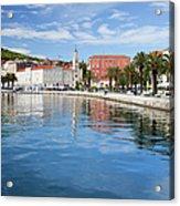 Split Bay In Croatia Acrylic Print