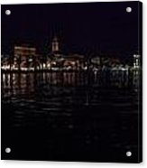 Split Old Town By Night Acrylic Print