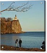 Split Rock Acrylic Print