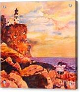 Split Rocks Golden Memories       Acrylic Print