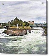 Spokane Falls From The Lincoln Street Bridge Acrylic Print