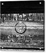 Sponge Diver Supply Acrylic Print