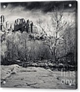 Spooky Castle Rock Acrylic Print by Darcy Michaelchuk