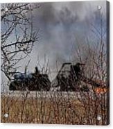 Spring Burning Of The Blueberry Fields Acrylic Print by Susan Capuano